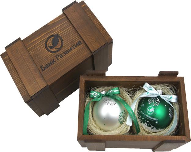 деревянная упаковка для новогоднего шара